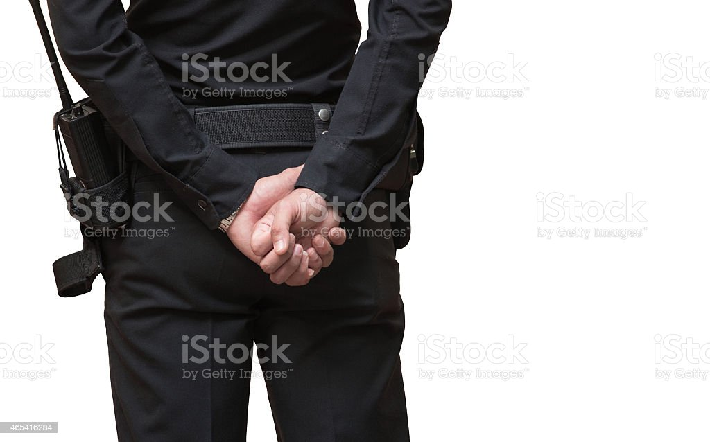 police officer isolated on white stock photo