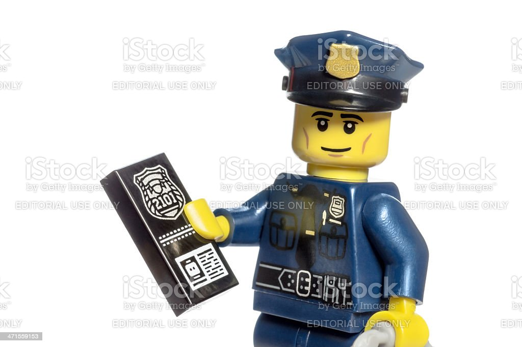 Police Officer Lego Mini-figure royalty-free stock photo