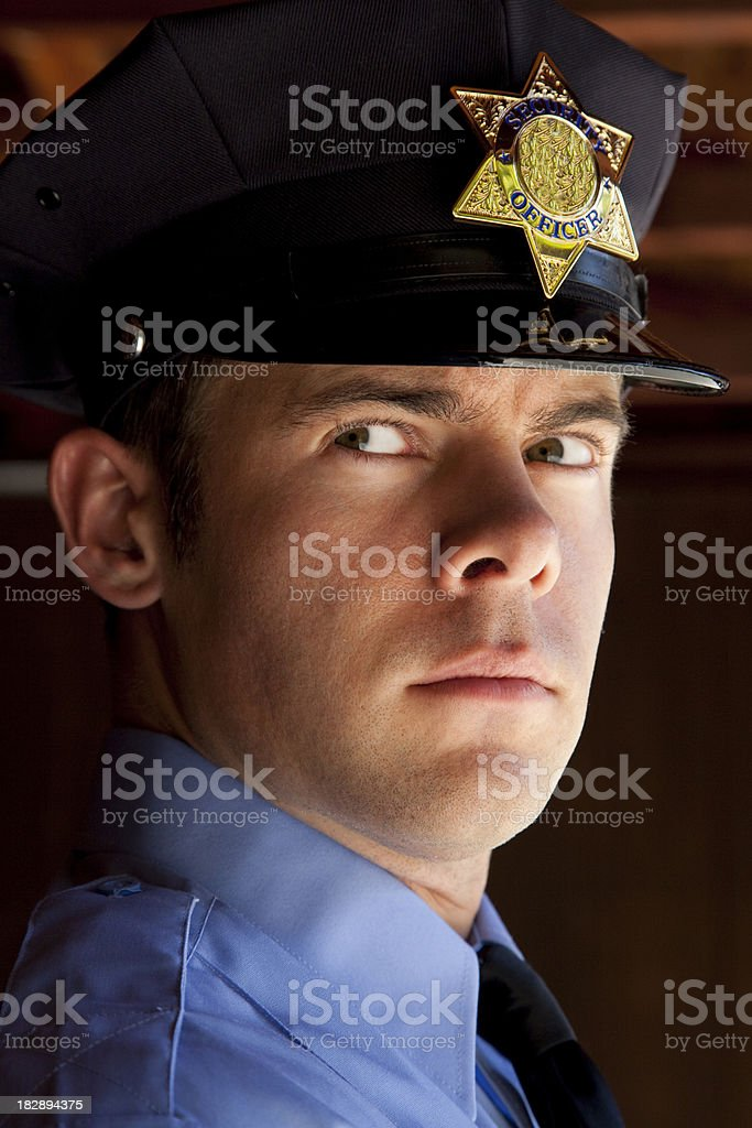police officer on guard royalty-free stock photo
