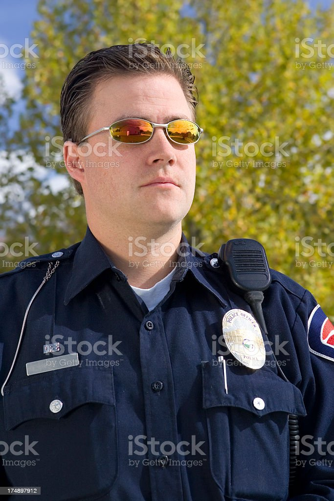 Police Officer Portrait royalty-free stock photo