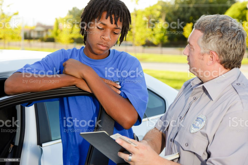 Police Officer Writing a Ticket stock photo