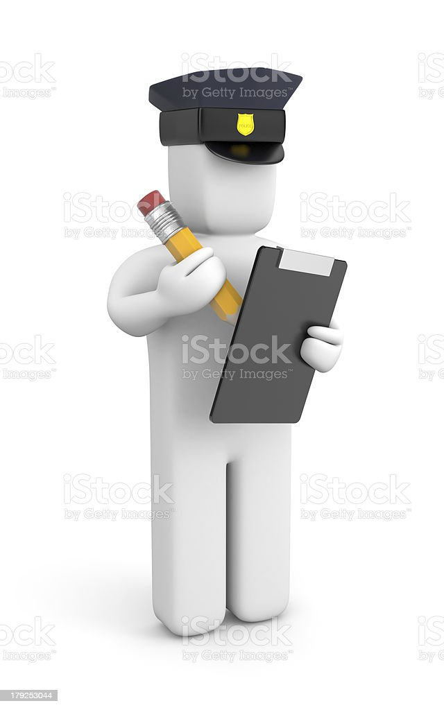 Police officer writing a ticket royalty-free stock photo