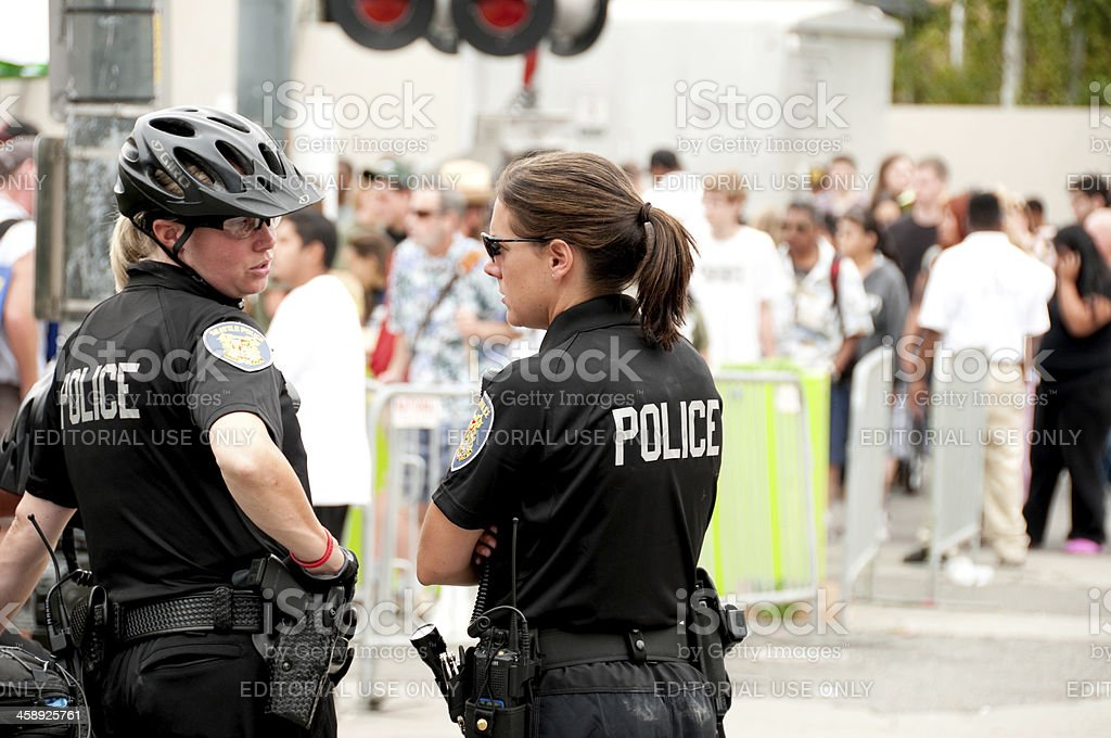 Police Officers at Hempfest stock photo