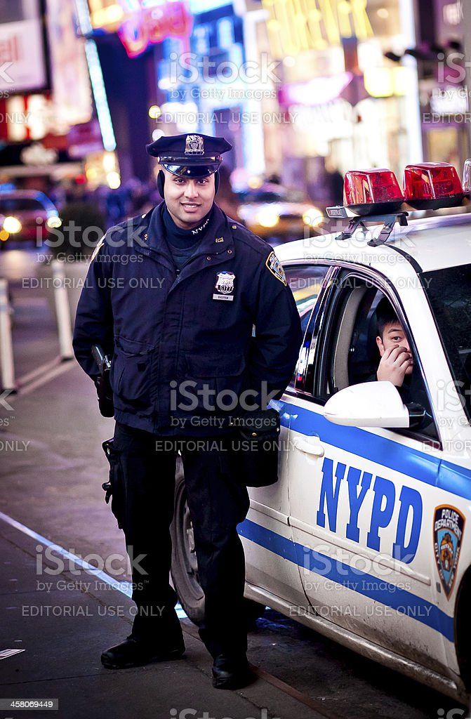 Police Officers in New York royalty-free stock photo