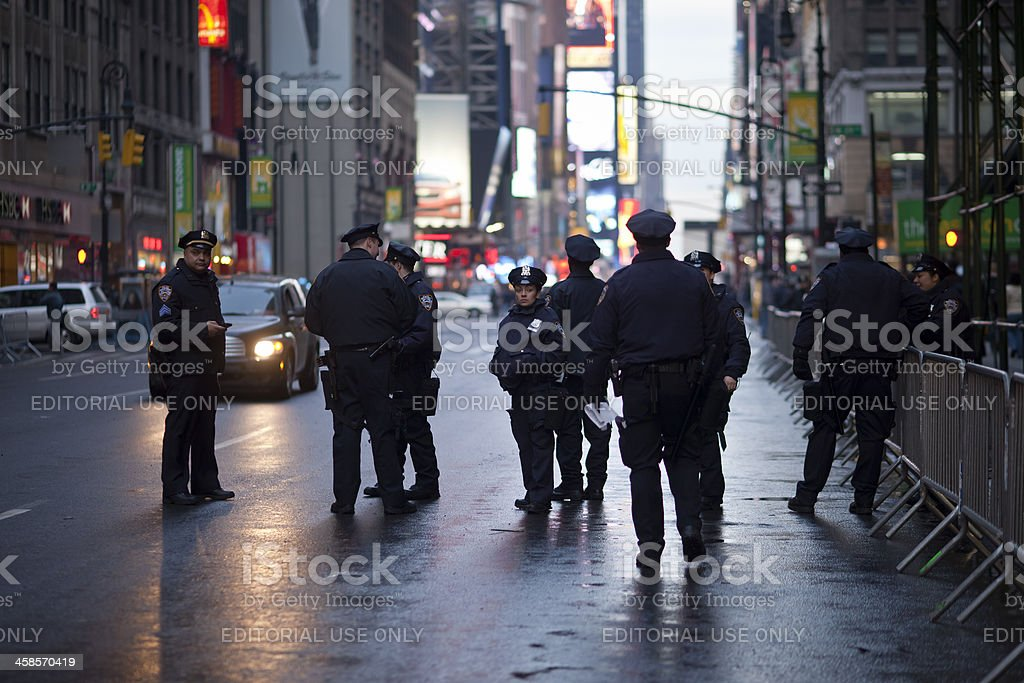 Police Officers in New York stock photo