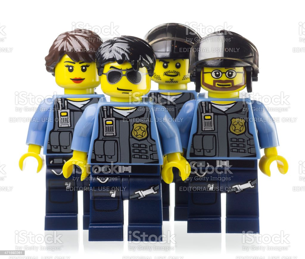 Police Officers Lego Mini-figure royalty-free stock photo
