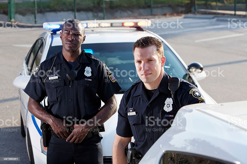 Police officers stock photo