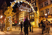 Police officers surveillance of Christmas Market area people