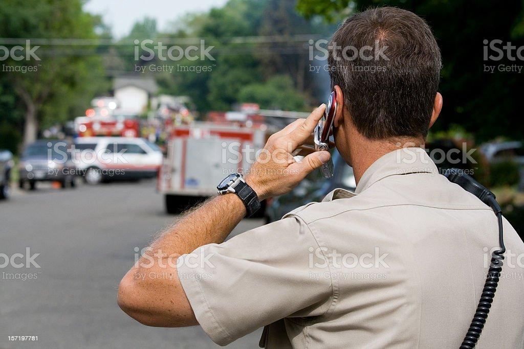 Police On Call stock photo