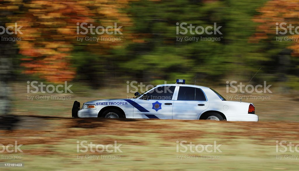 Police on the Move stock photo