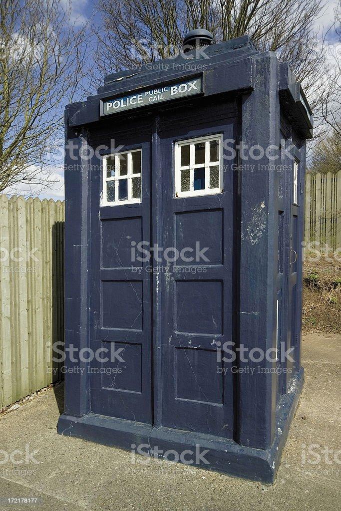 Police Phone Box royalty-free stock photo