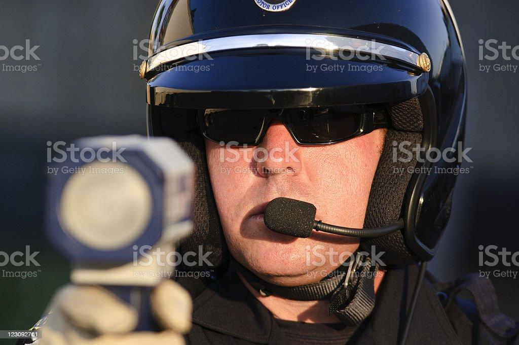 police radar gun stock photo
