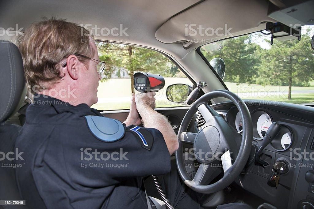 Police Radar stock photo