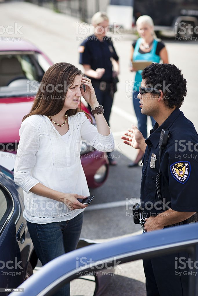 Police Respond to Traffic Accident stock photo