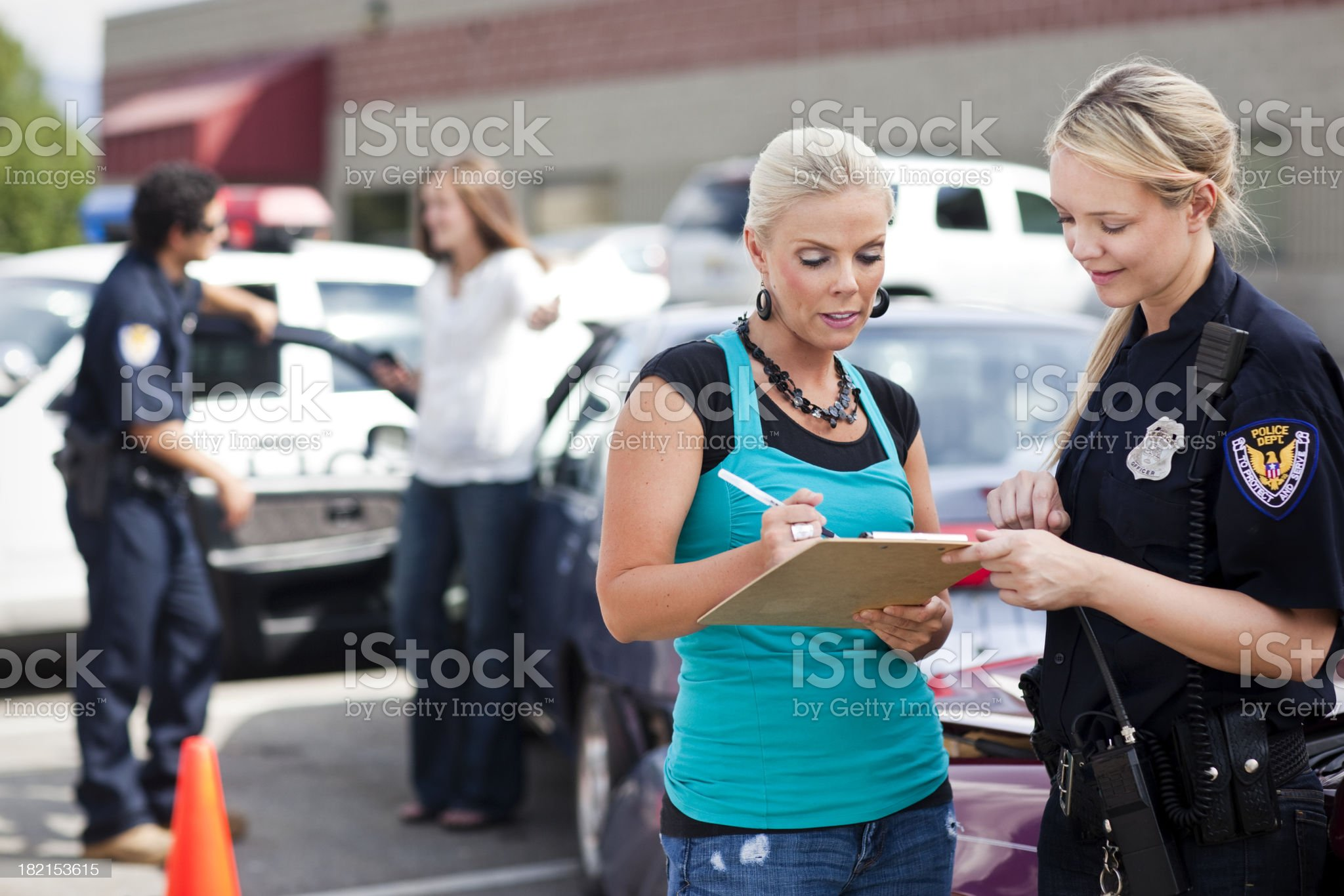 Police Respond to Traffic Accident royalty-free stock photo