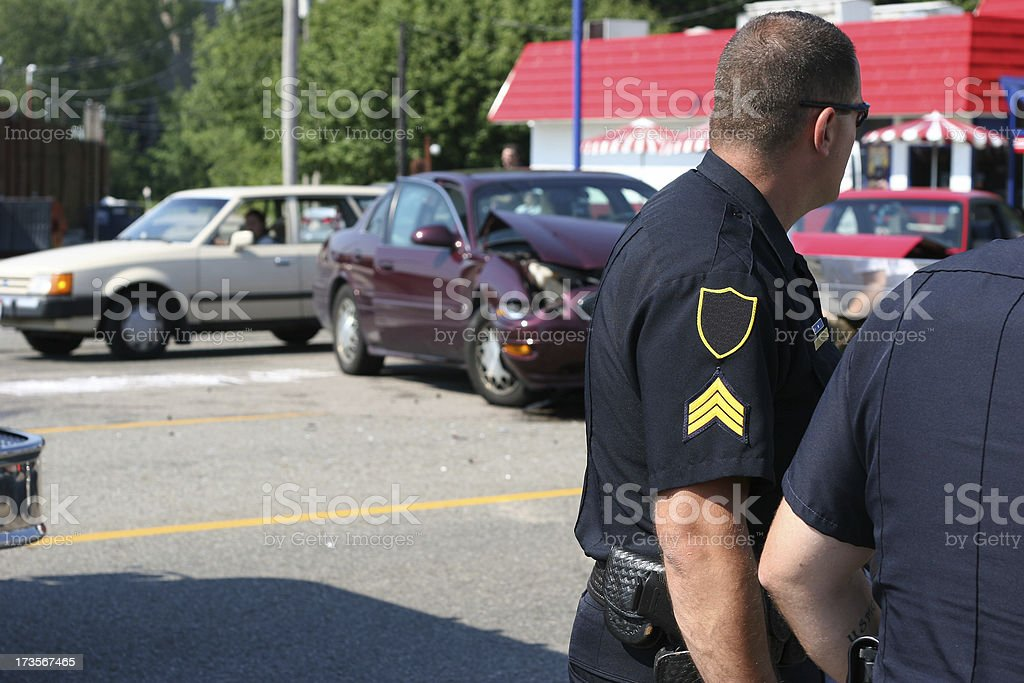 Police Responding to Accident 2 royalty-free stock photo