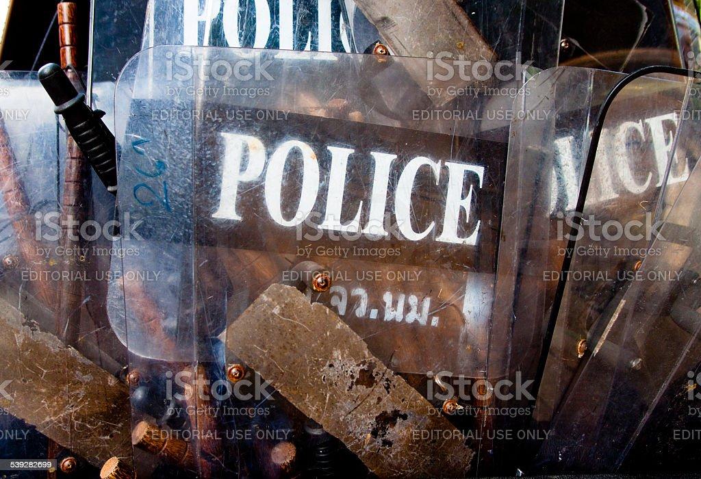 Police Riot Equipment stock photo