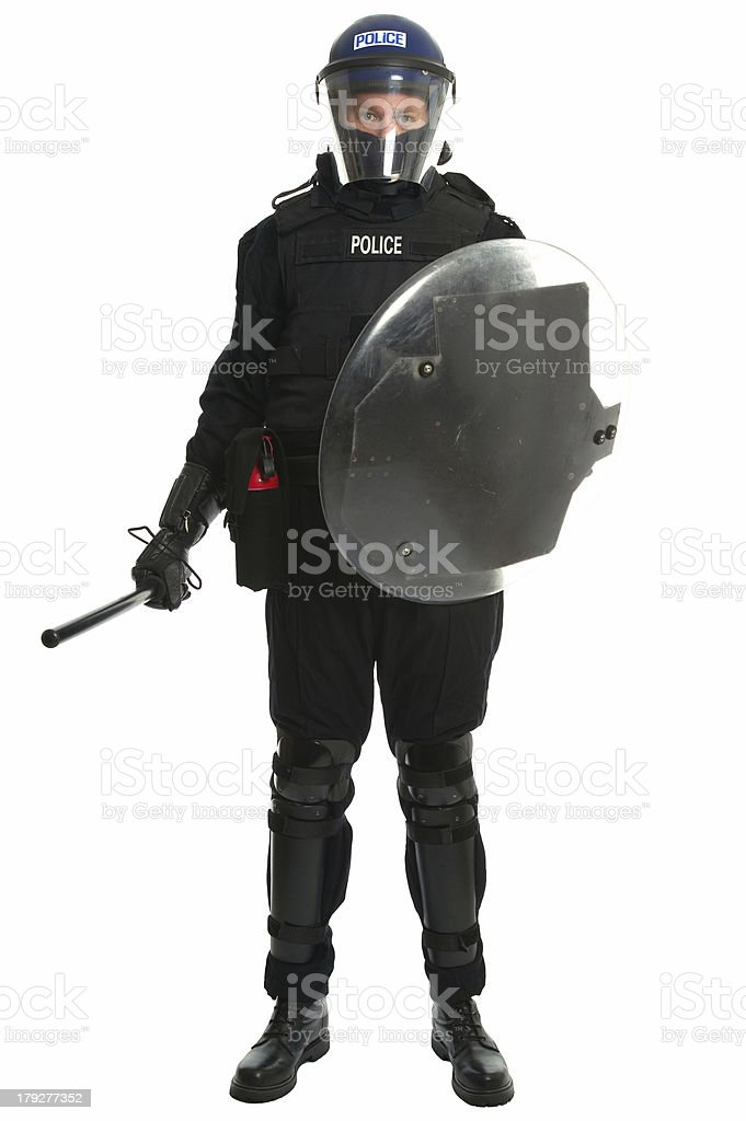 Police riot officer stock photo