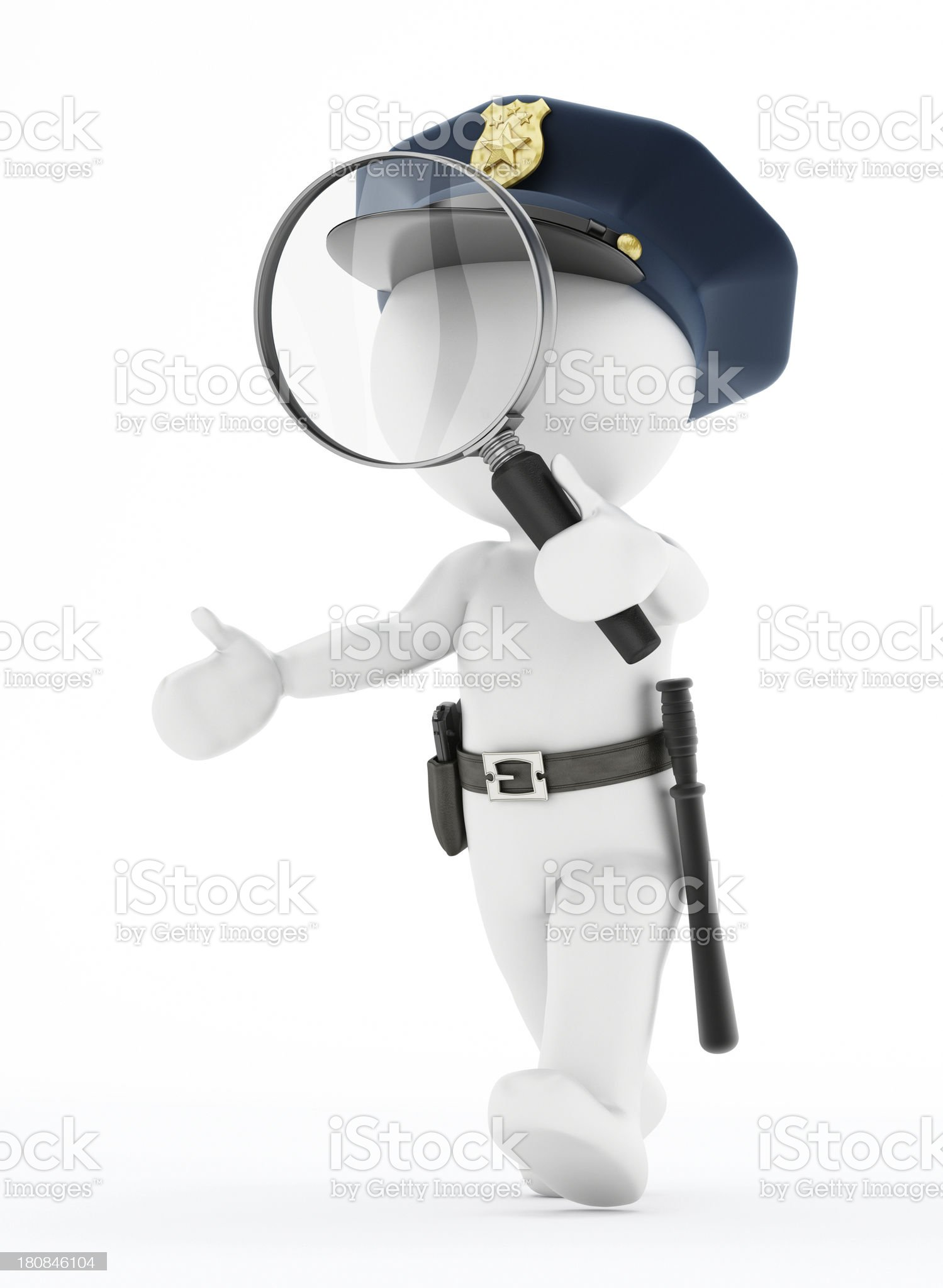 Police search royalty-free stock photo