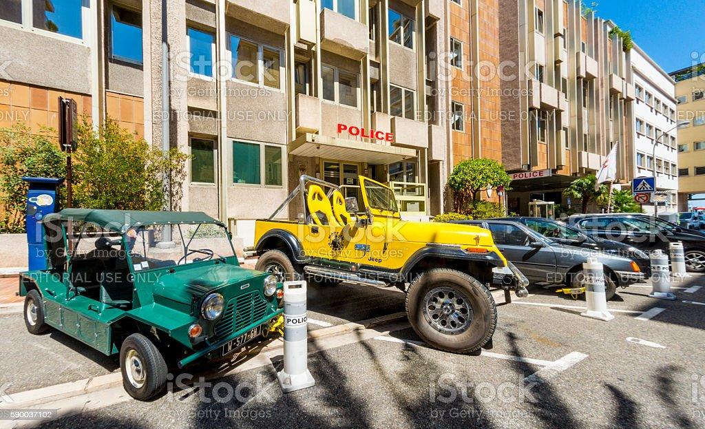 Police Seized Vehicles in Monte Carlo Monaco stock photo