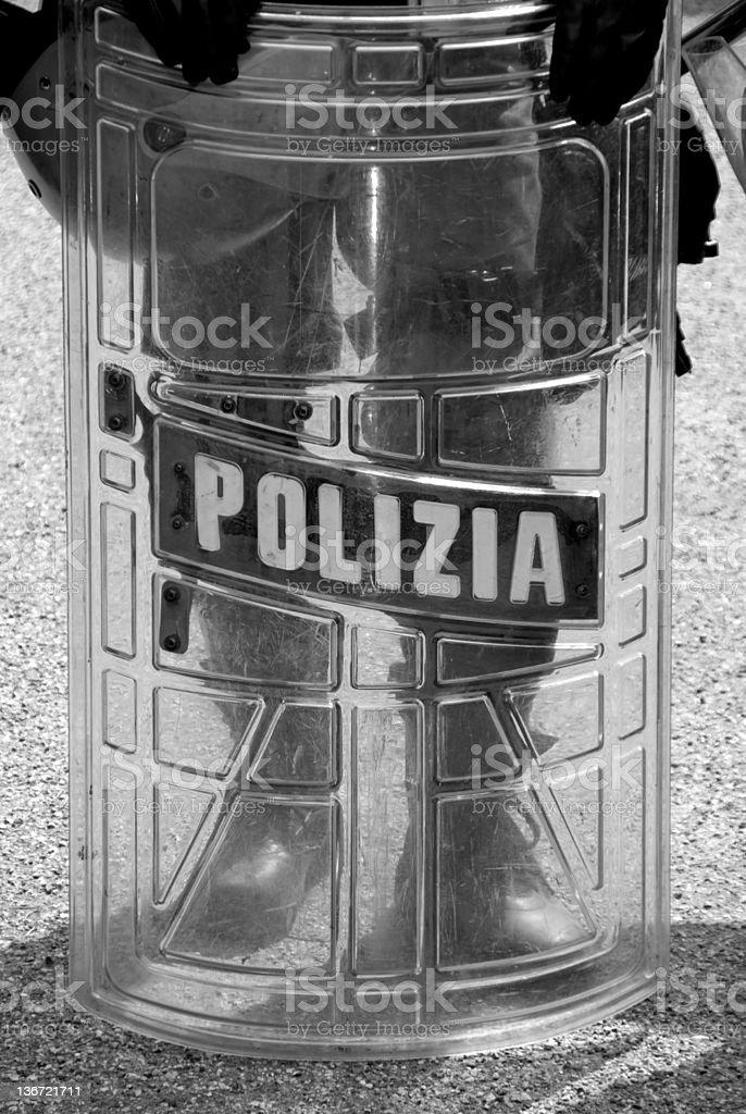 Police shield stock photo