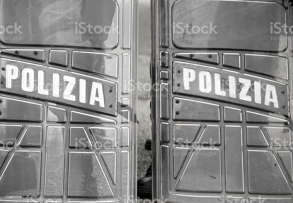 Police shields royalty-free stock photo