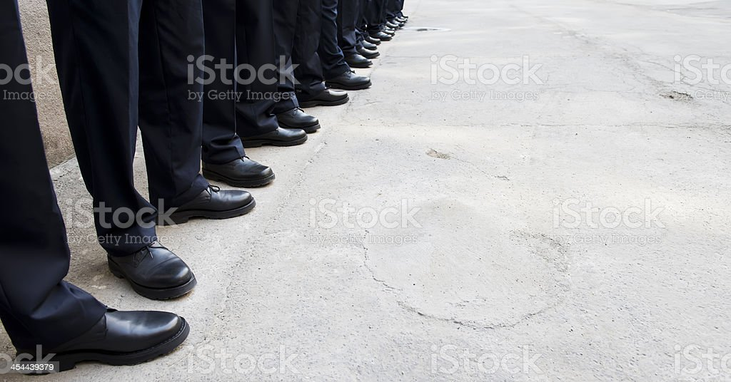 Police shoes royalty-free stock photo