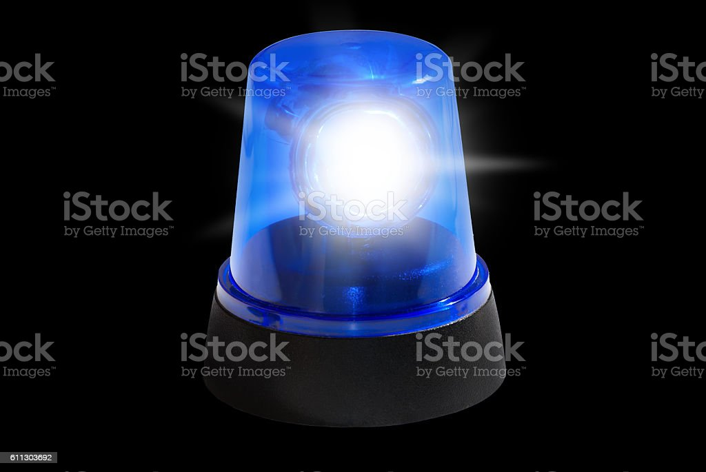Police Siren Emergency Light stock photo
