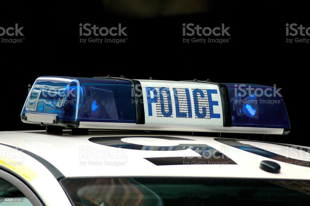 Police siren lights stock photo