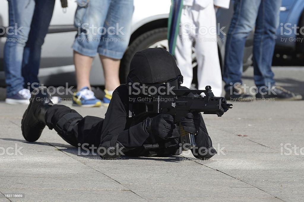 Police special forces in action royalty-free stock photo