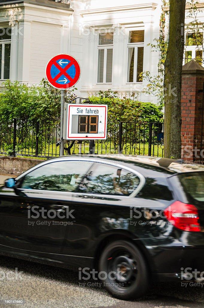 Police Speed Control stock photo