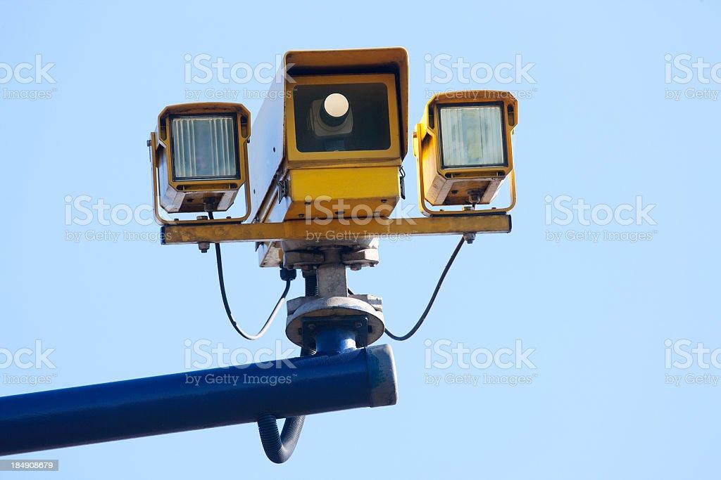 Police speeding camera trap. stock photo