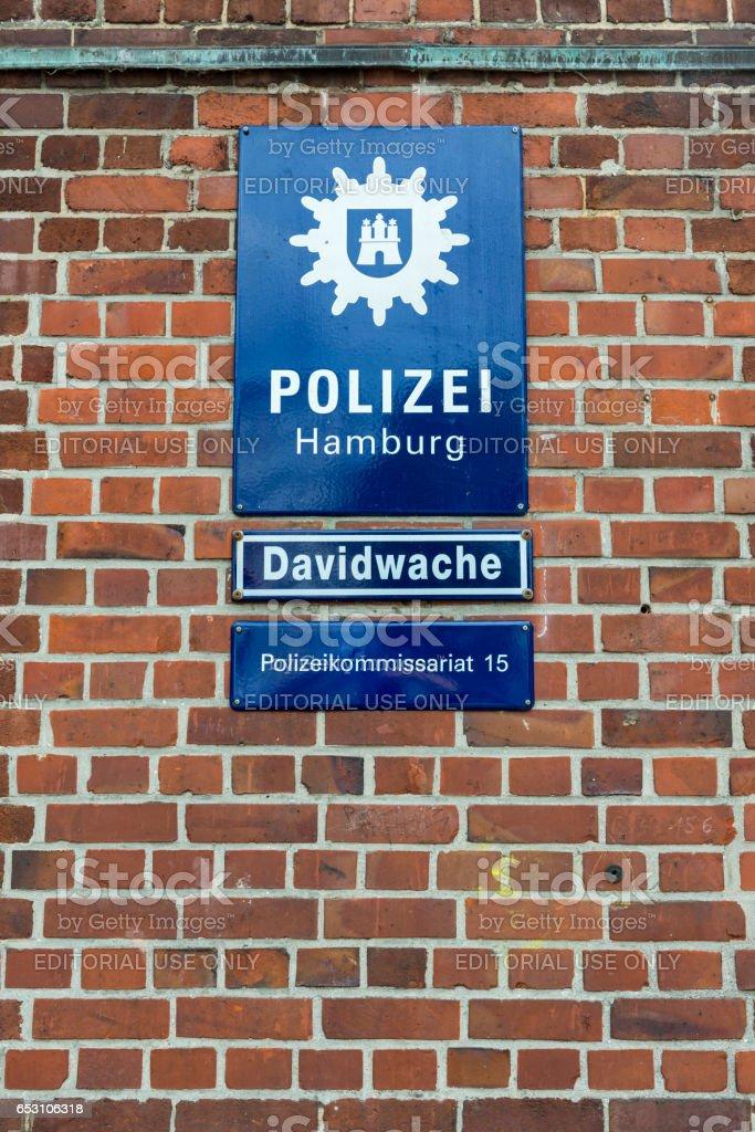 Police Station Davidwache Hamburg stock photo