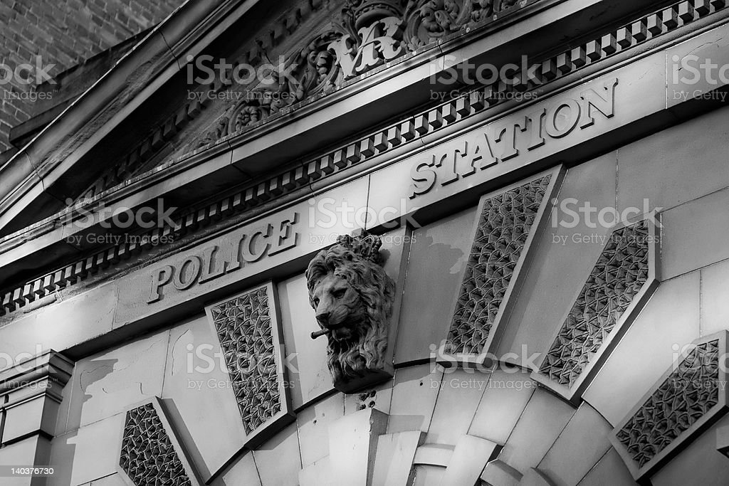 police station frontage stock photo