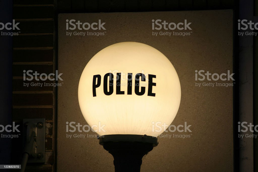 Police Station Light Sign royalty-free stock photo