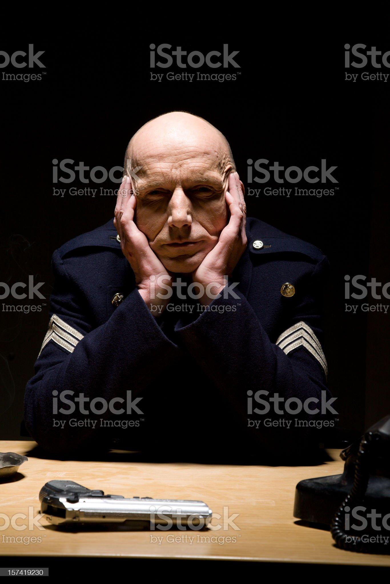 Police station royalty-free stock photo