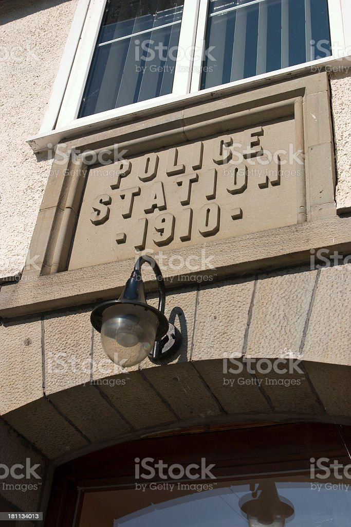 Police Station Sign royalty-free stock photo