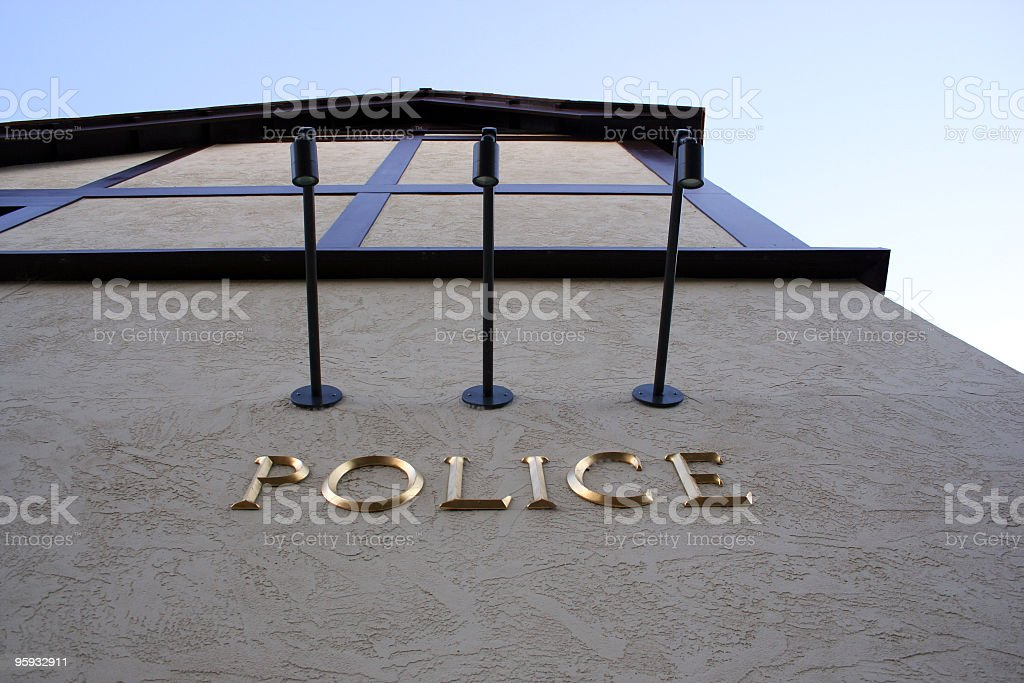 Police Station: The Official Authority of Cops stock photo