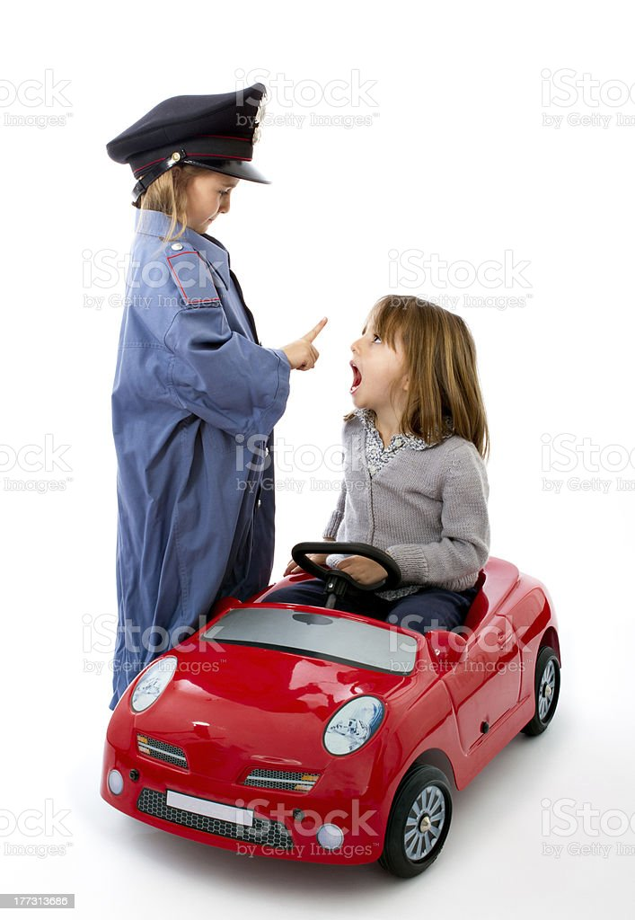 police stop gesture at driver royalty-free stock photo