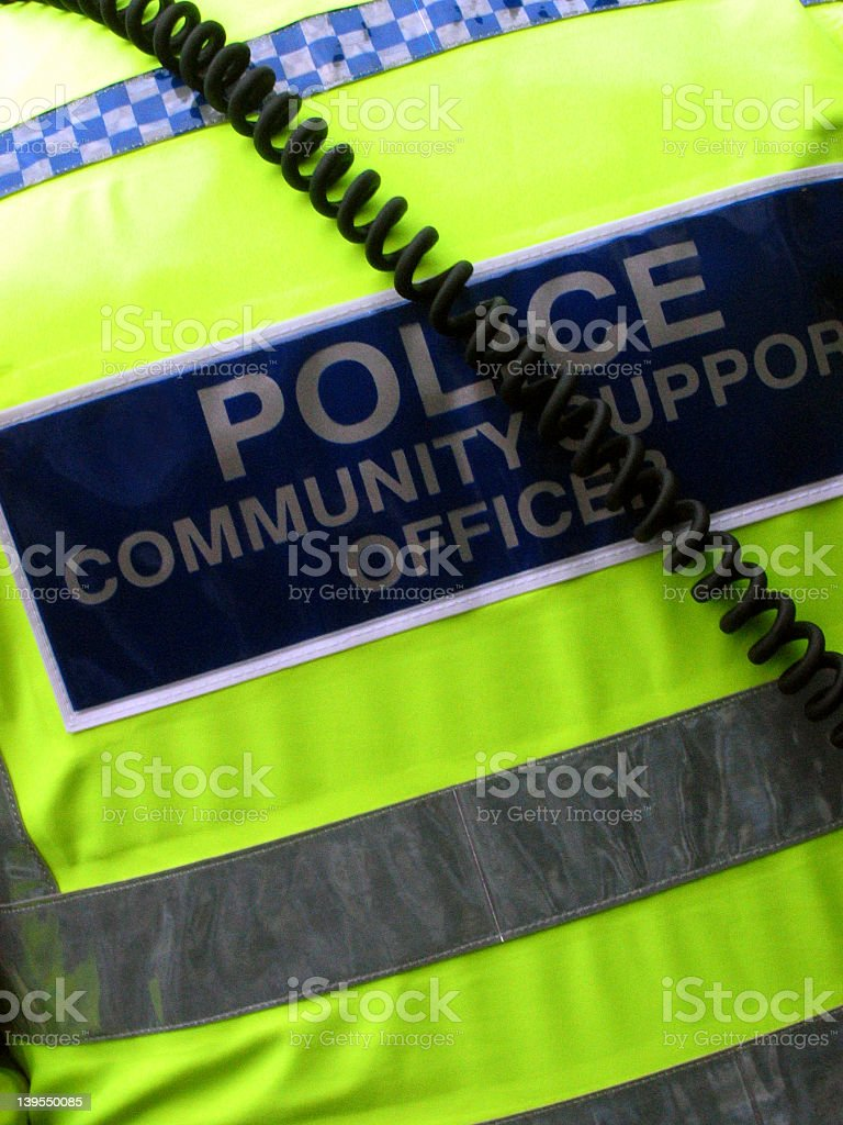 Police support officer royalty-free stock photo