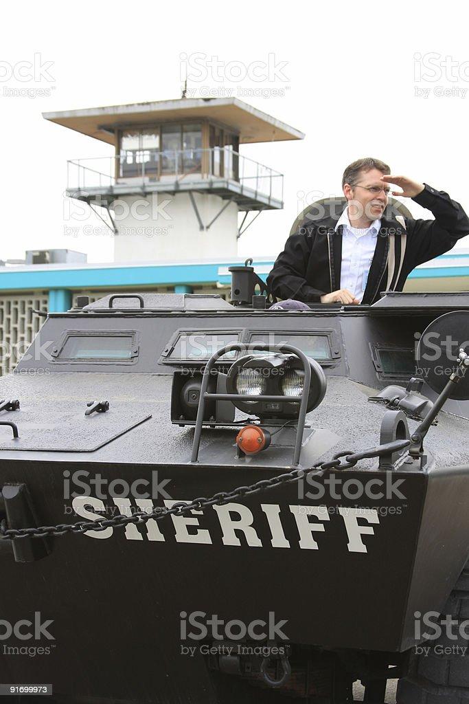 Police Tank stock photo