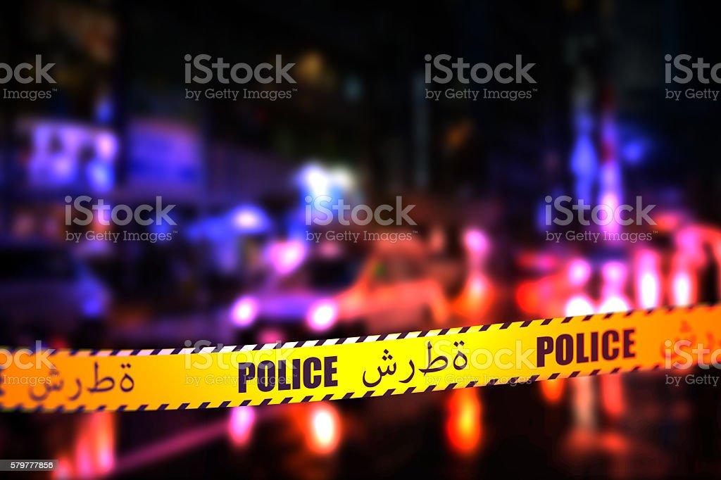 Police Tape - Arabic stock photo