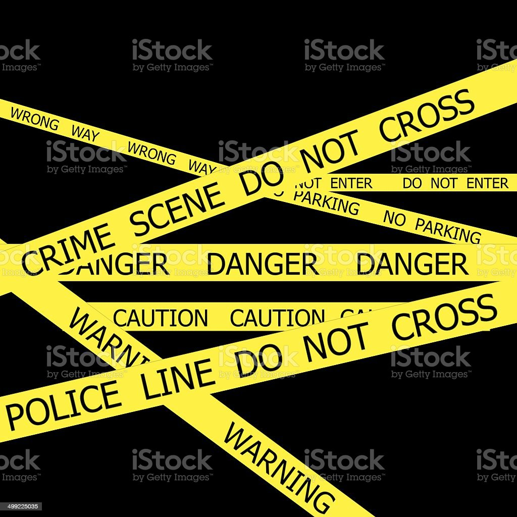 Police tapes stock photo