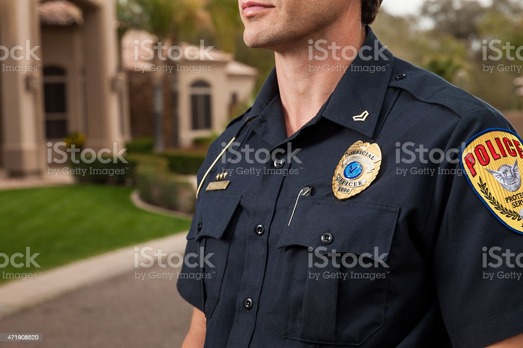 Police: To Serve and Protect stock photo