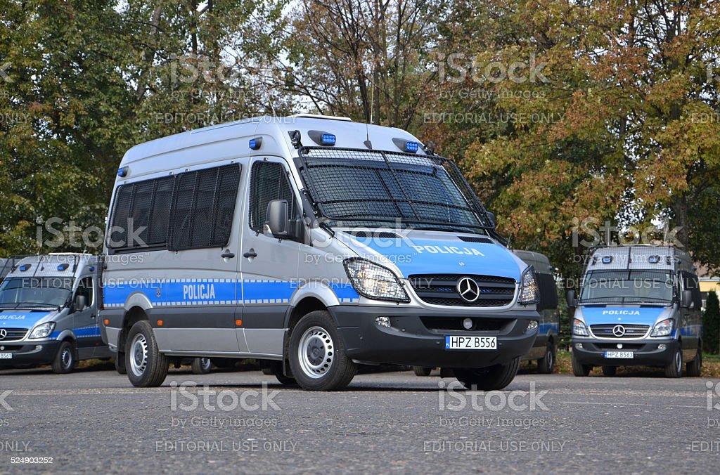 Police van stock photo