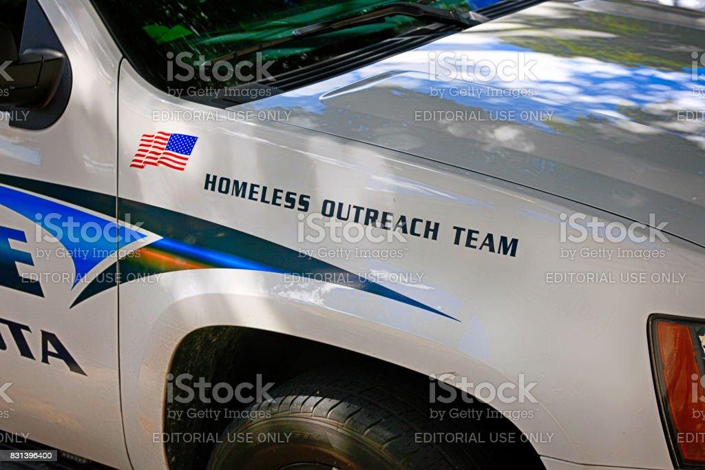 Police vehicle of the Sarasota Police Dept in Florida USA stock photo