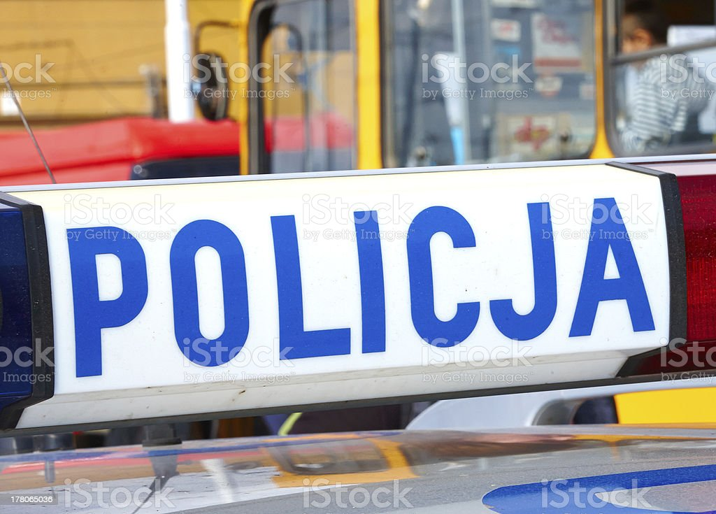 Police vehicle on crime site royalty-free stock photo