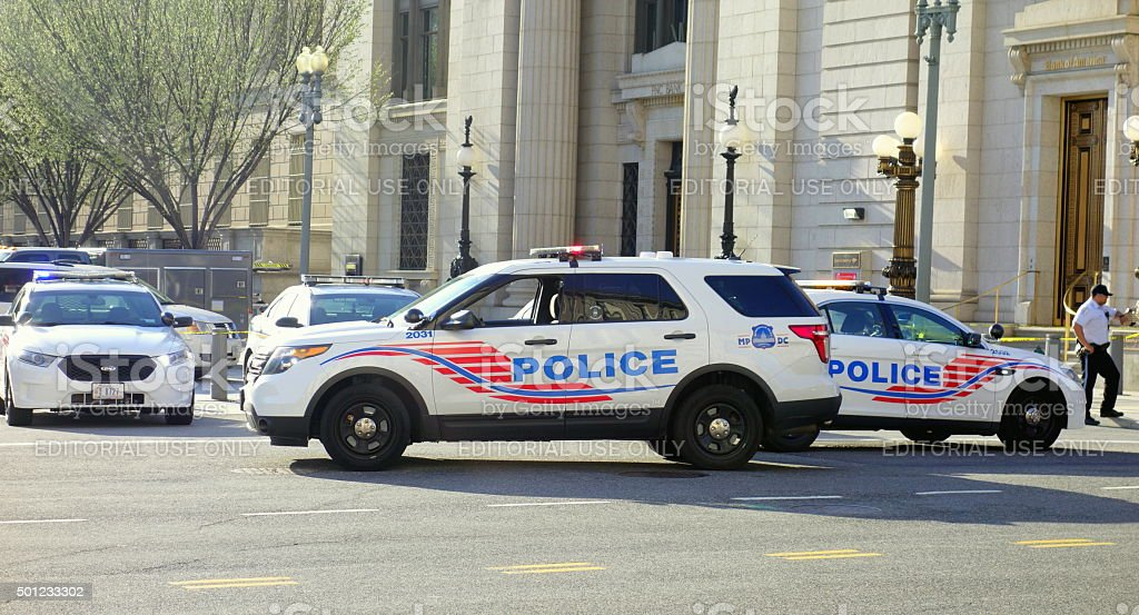 Police Vehicles in Washington DC stock photo