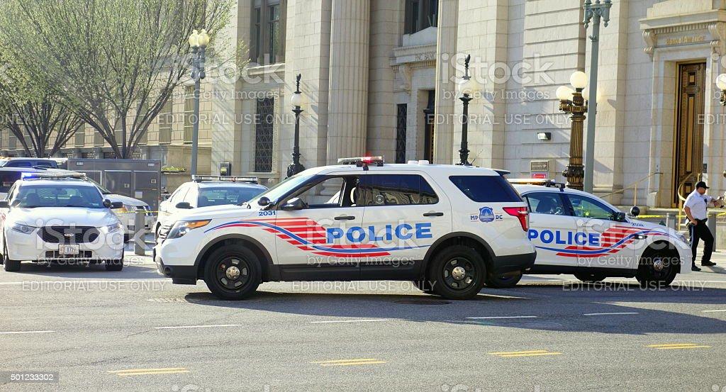 Police Vehicles in Washington DC stock photo