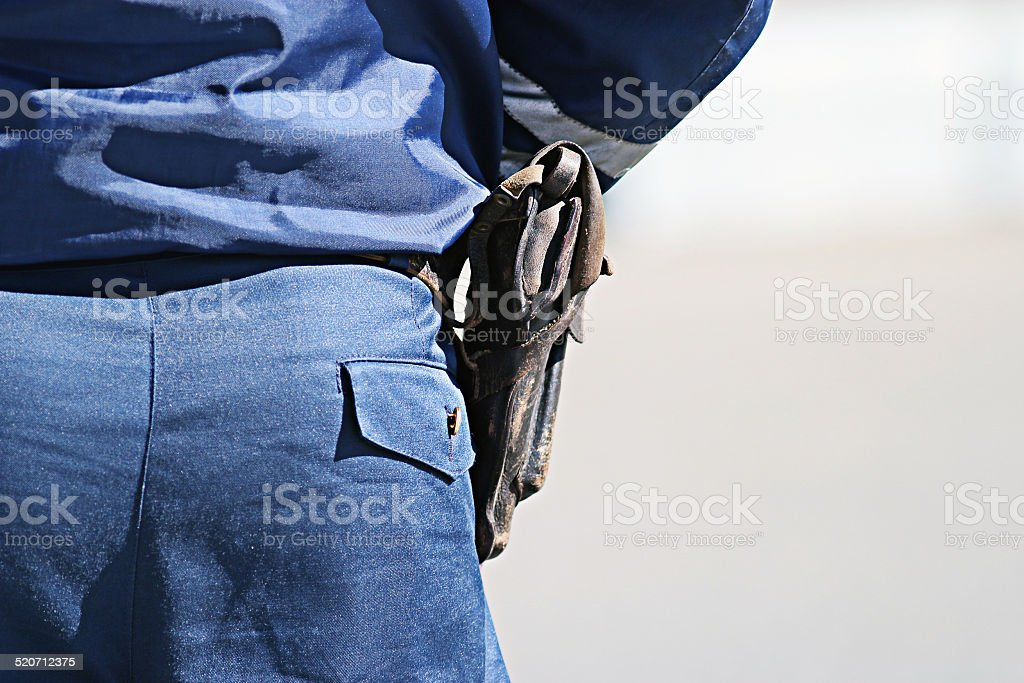 police weapon stock photo